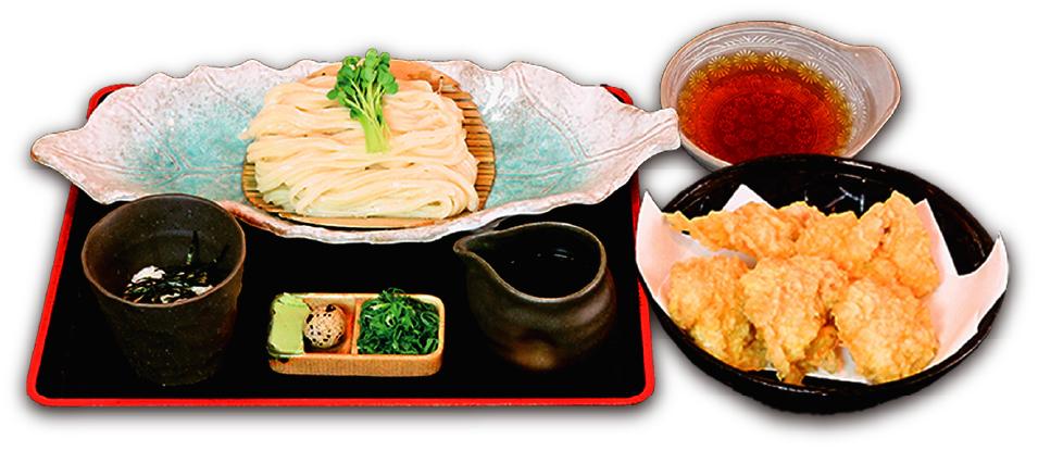 かしわ天つけ麺(冷)